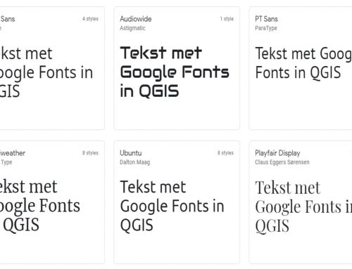 Google fonts in QGIS